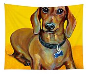 Red Dachshund - Tigger Smiles Tapestry