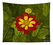 Red Dahlia Tapestry