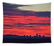 Red Farm Sunrise Tapestry
