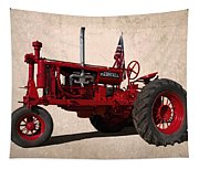 Red Farmall Tractor Tapestry
