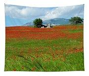 Red Fields Tapestry