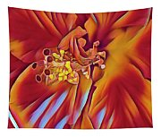 Red Flame Hibiscus Tapestry