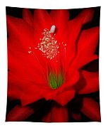 Red Flower For You Tapestry