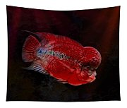 Red Flowerhorn Cichlid Tapestry