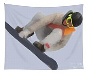 Red Gerard Snowboarding Gold Tapestry