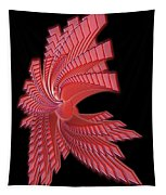 Red Glass Abstract Tapestry