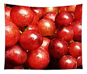 Red Grape Pano Tapestry