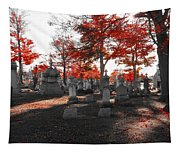 Red Fall Graveyard Tapestry