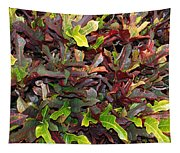 Red Green Leaves Tapestry