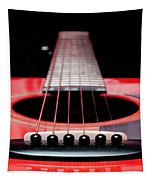 Red Guitar 16 Tapestry