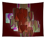 Red Hearts Tapestry