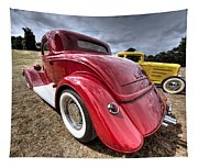 Red Hot Rod - 1930s Ford Coupe Tapestry