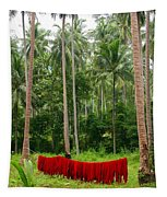 Red In The Jungle Tapestry