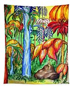 Red Jungle. Alien Planet Tapestry