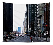 Red Lights - City Of Chicago Tapestry