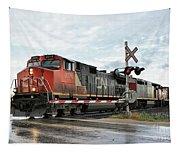 Red Locomotive Tapestry