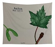Red Maple Tree Id Tapestry