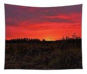 Red Marsh Sunrise Tapestry
