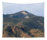 Red Mountain In The Foothills Of Pikes Peak Colorado Tapestry