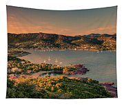 Red Mountains Tapestry