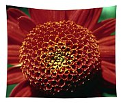 Red Mum Center Tapestry