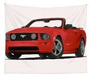 Red Mustang Tapestry