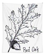 Red Oak Leaf And Acorn Tapestry