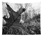 Red Oak Leaf Four Tapestry