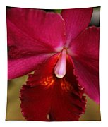 Red Passion Orchid Tapestry