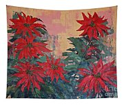 Red Poinsettias By George Wood Tapestry