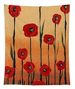 Red Poppies Decorative Art Tapestry