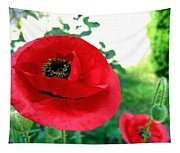 Red Poppies Tapestry