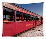 Red Rail Cars Tapestry