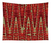 Red Ripe Pomagranite Abstract Tapestry