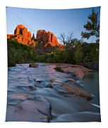 Red Rock Sunset Tapestry