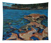 Red Rocks And Pooled Water Tapestry