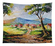 Red Roofs Tapestry