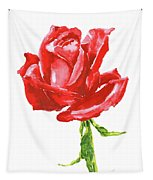Red Rose Watercolor Painting Tapestry