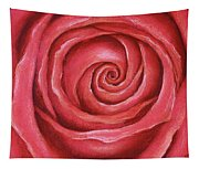 Red Rose Pastel Painting Tapestry