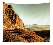 Red Rural Road Tapestry