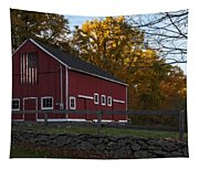 Red Rustic Barn Tapestry