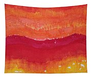 Red Saddle Original Painting Tapestry