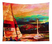 Red Sails In The Sunset Tapestry
