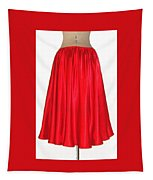 Red Satin Mid-calf Skirt. Ameynra Simple Line 2013 Tapestry