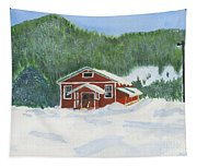 Red School House Tapestry
