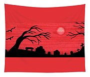 Red Sky Cemetery Tapestry