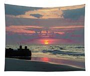 Red Sky Sun Rise Tapestry