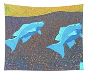 Red Snapper Inlay On Alabama Welcome Center Floor - Color Invert Tapestry