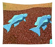 Red Snapper Inlay Sunny Day Invert Tapestry