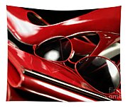 Red Stylish Accessories Tapestry